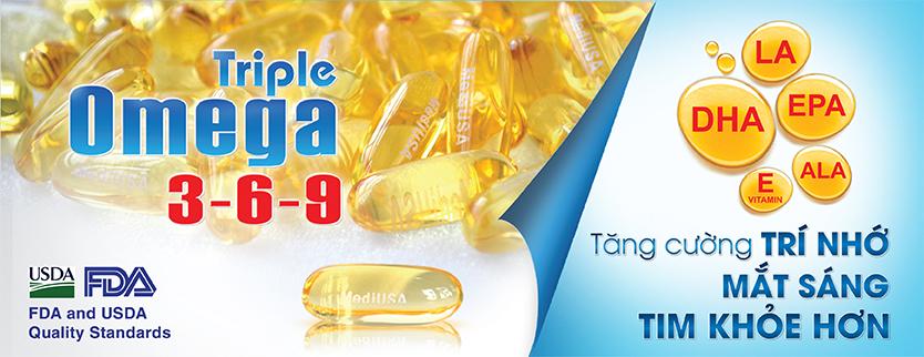 MediUSA - Thực phẩm bảo vệ sức khỏe Triple Omega 3-6-9